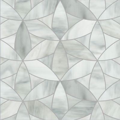 petal mosaic in rain cloud