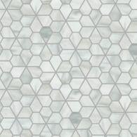 segmented flower mosaic in rain cloud