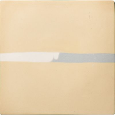 "Cloud 5.5"" x 5.5"" Neriage Stripe in Ochre (main) and Ash/Raw (stripe)"