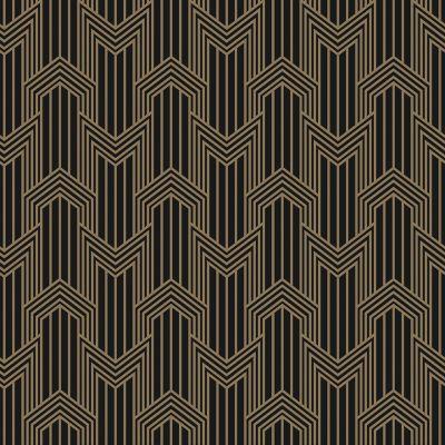 geometric in gold on black