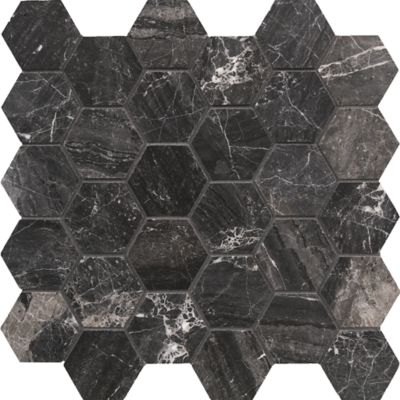 "Eros Grey 2"" hexagon"