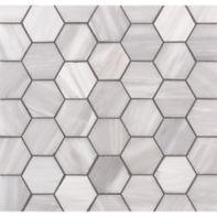 "Lana 2"" hexagon mosaic in brushed finish"