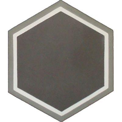 "7.87"" x 7.87"" decorative hexagon in Milano"