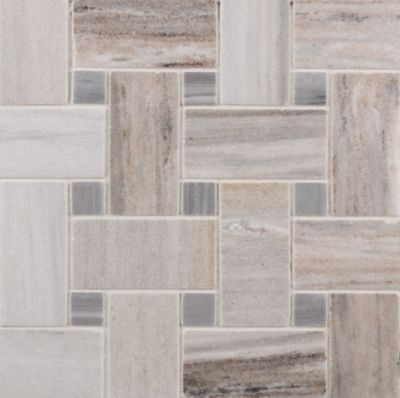 Orizzonte basketweave mosaic in polished finish