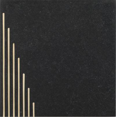 "6"" x 6"" ascend left in black/brass"