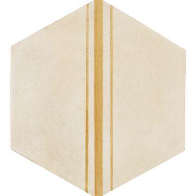 """Tiempo Linea Hex 5"""" x 5"""" field tile in Caramelo"""