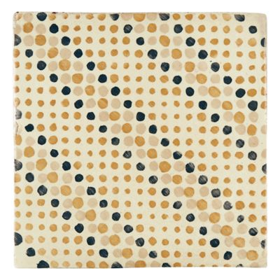 "Tiempo Signac 4.625"" x 4.625"" field tile in Caramelo, Charcoal, and Latte"