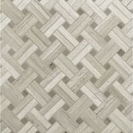 diagonal weave mosaic in honed finish