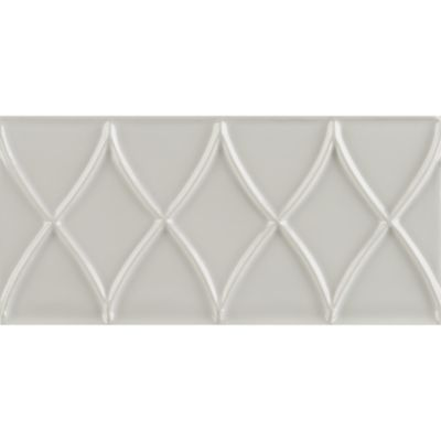"3"" x 6"" diamond border trim in bright white gloss"