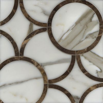 montgomery medium mosaic in calacatta tia and emperador dark