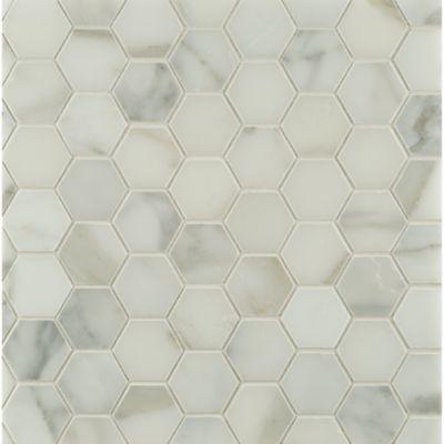 """2"""" hexagon mosaic in honed finish"""