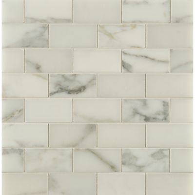 "1-1/2"" x 3"" offset mosaic in honed finish"