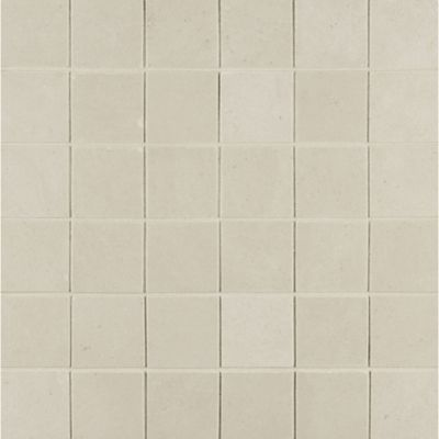 """2"""" x 2"""" stacked mosaic in white linen"""