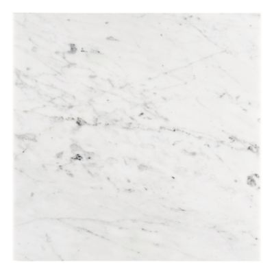 "Carrara Bianca 18"" x 18"" in honed finish"