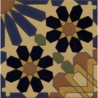 "6"" x 6"" mcq-33 decorative tile in mp23, mp19, mp65, mp109, mp106 and mp88 colors"