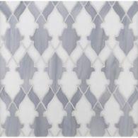 bombay mosaic in light smoke and gosh white