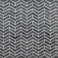 chevron herringbone mosaic in transparent smoke