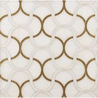 fish scale mosaic in spirit, sugar cane and gold