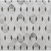 hex diamond mosaic in rain cloud and grey smoke