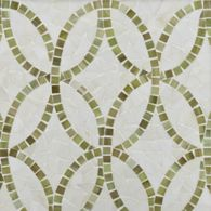 interlace mosaic in off white and sage green