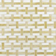 interweave mosaic in off white and transparent light beige