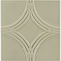 """6"""" x 6"""" interlace circle field in celery crackle"""