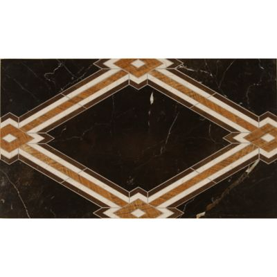 fez field with gold brown, russet brown, botticino and dark onyx