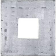 "6"" x 6"" fretwork 2 decorative tile in brushed aluminum"