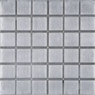 "6"" x 6"" squared 1"" decorative tile in brushed aluminum"
