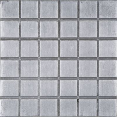 "6"" x 6"" squared 1"" decorative tile in brushed aluminum"