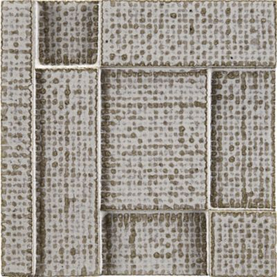"5-3/4"" x 5-3/4"" asaori burlap block field in sharkskin"