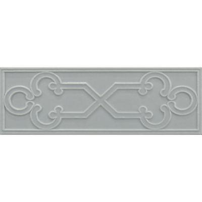 "2-1/8"" x 6"" key decorative tile in hudson blue matte"