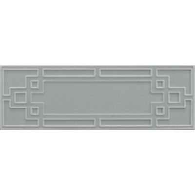 "2-1/8"" x 6"" maze decorative tile in hudson blue matte"