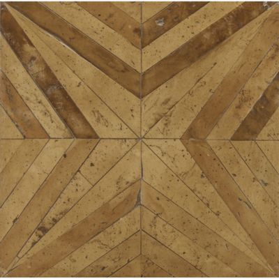 "15-3/4"" x 15-3/4"" diamante field in cotto giallo terra cotta and cotto arancione terra cotta"