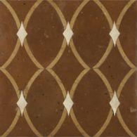 """13-3/4"""" x 13-3/4"""" ragusa field in cotto rosso terra cotta, cotto giallo terra cotta and white limestone"""