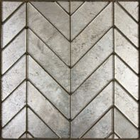 Lucian Metallics Chevron mosaic in Pewter