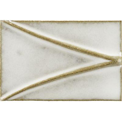 """4"""" x 6"""" half diamond field in veil"""