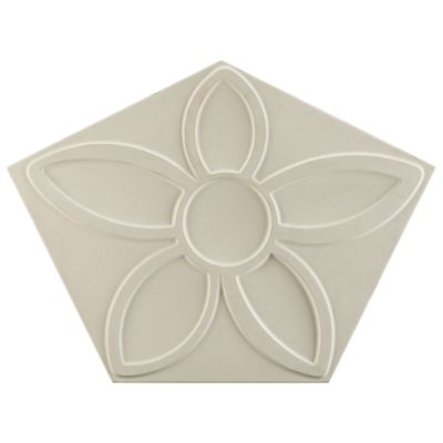 "16-7/8"" x 12-5/8"" penta flora field in white"