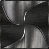 "8"" x 8"" reverb field in metallic black"