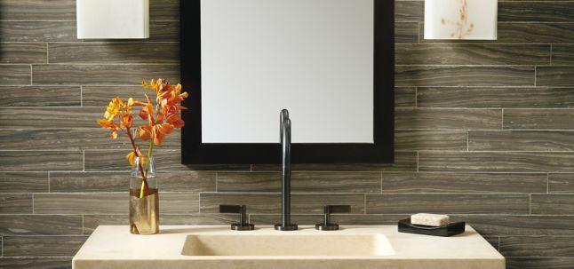 Benoist Reclaimed Wood Vanity Mirror: ANN SACKS Tile & Stone