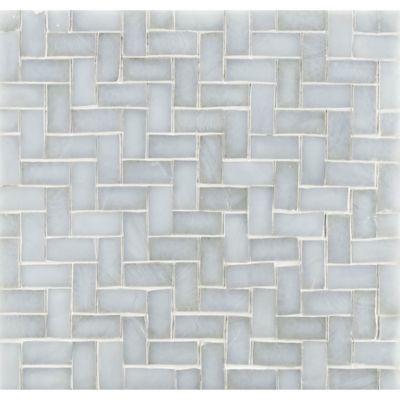 """3/4"""" herringbone mosaic in bluemoon irid"""