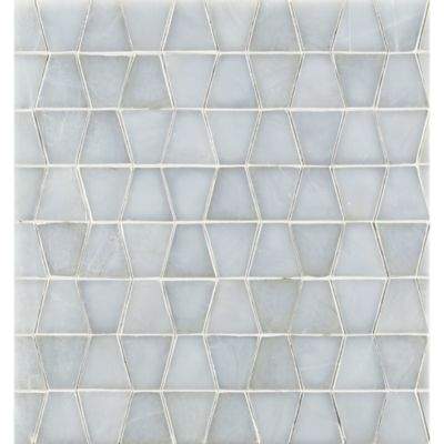 "3/4"" trapezoid mosaic in bluemoon irid"