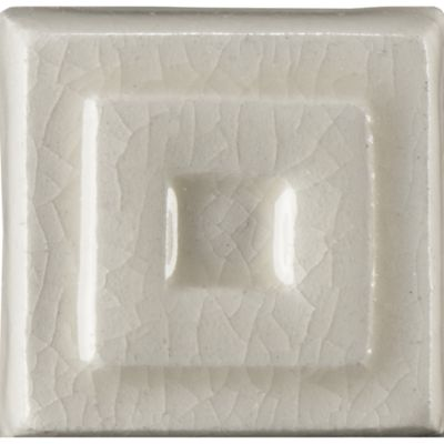 "1"" x 1"" celtic drop decorative tile in cream crackle"