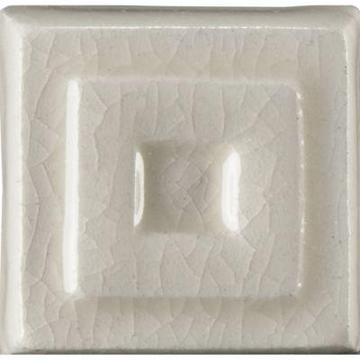 """1"""" x 1"""" celtic drop decorative tile in cream crackle"""
