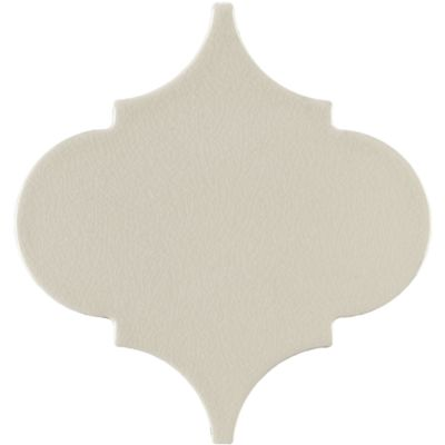 "6"" x 6"" arabesque flat field in cream crackle"