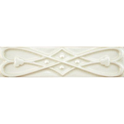 "2"" x 8"" finial ribbon border trim in cream crackle"