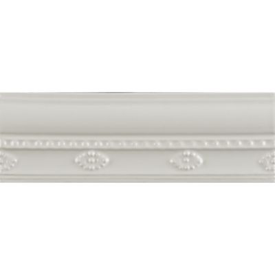 "2"" x 6"" georgian border trim in bright white gloss"