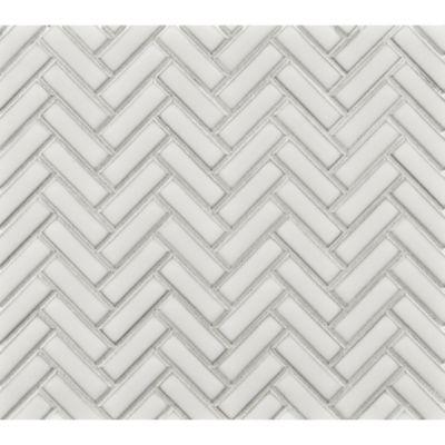 herringbone mosaic in ricepaper
