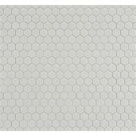 hexagon mosaic in matte chalk