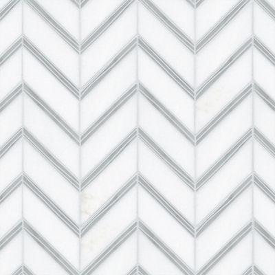 flair mosaic in standard thassos and carrara